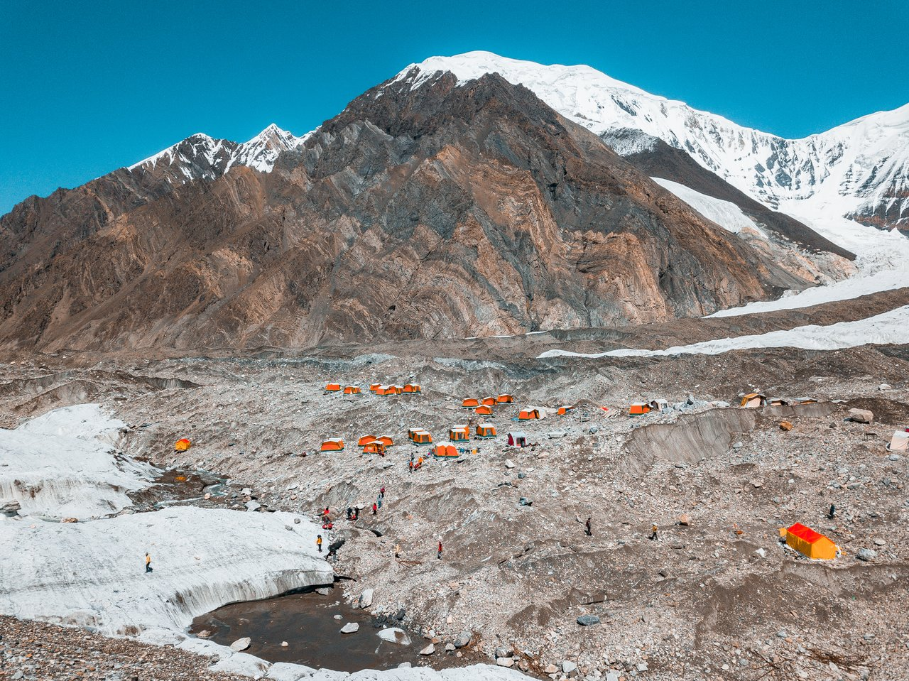 the North Inylchek Base Camp by